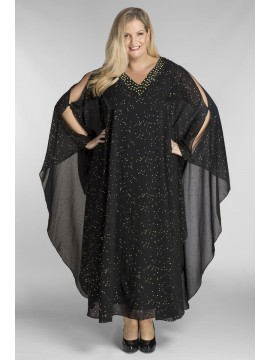 Floor Length Chiffon Overlay with Jersey Dress