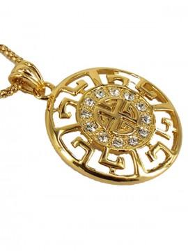 SALE - Circular Decorated Pendant - YG