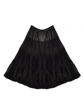 50's Style Netting Petticoat in Black